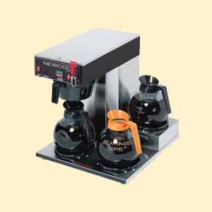 Three burner machines for coffee brewing